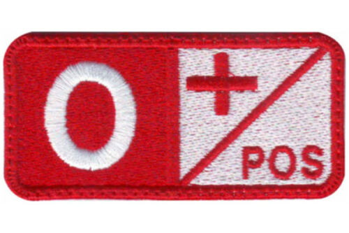 Blood Type Red Embroidered Patch