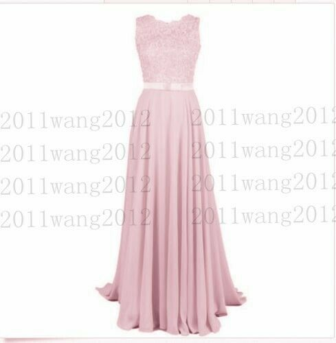 Lace//Long Formal Wedding Evening Ball Gown Party Prom Bridesmaid Dress Size 6-26