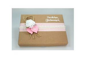 Geschenkschachtel Geldgeschenk Box Natur Deko Rosa Hochzeit Ebay