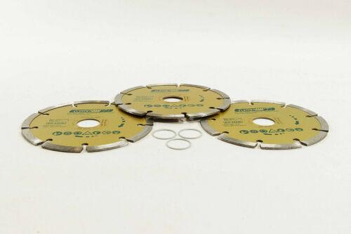 NEU 3x Diamanttrennscheibe Diamant Trennscheibe 125 mm max 12200 r//pm