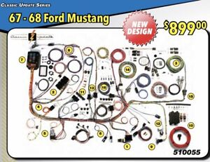 s l300 new design 1967 1968 ford mustang wire wiring harness american