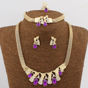 Cheap Purple Costume Jewellery Set Party Necklace Earring Ring Set - <span itemprop='availableAtOrFrom'>Basildon, United Kingdom</span> - Our products are carefully inspected before shipping. All products are returnable for fully refund within 7 days of delivery into the original method of payment, when we receive the prod - Basildon, United Kingdom