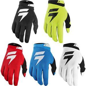 Shift Racing Mens White//Black White Label Air Dirt Bike Gloves MX ATV 2020