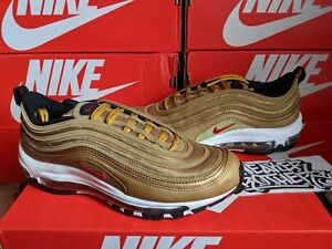 884e06a4028 Nike Air Max 97 QS GS OG Metallic Gold Varsity Red Bullet Running ...
