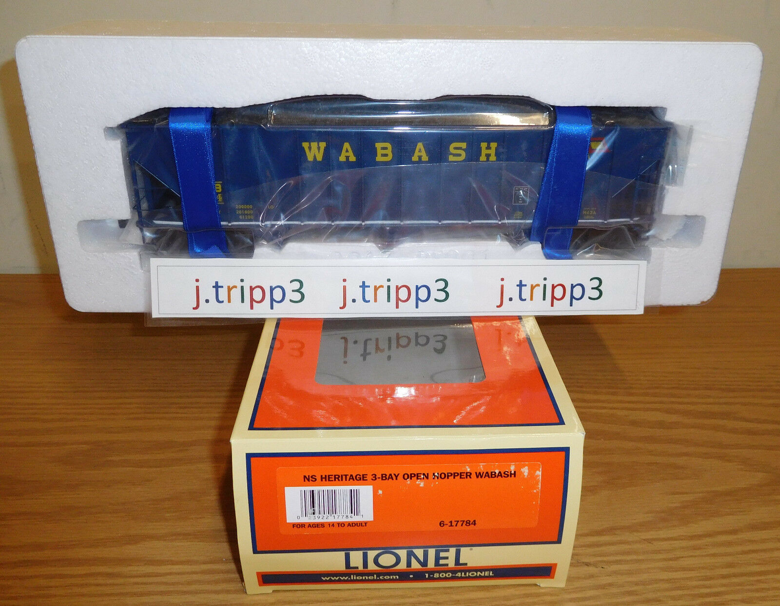 LIONEL 6-17784 WABASH NS HERITAGE DIE-CAST COAL HOPPER 3-BAY TOY TRAIN O SCALE