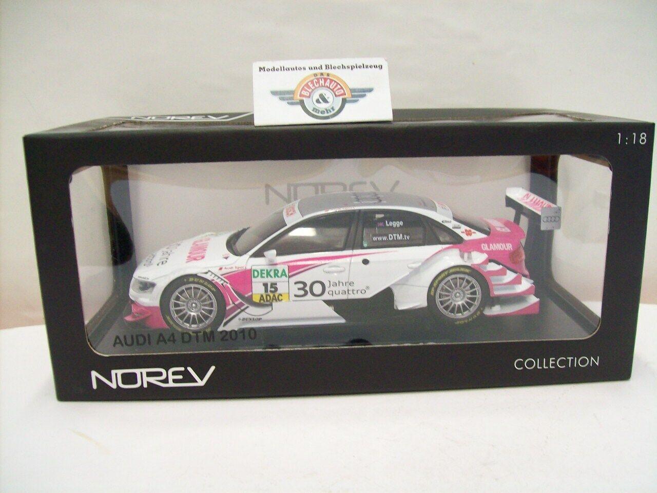 el precio más bajo Audi a4 DTM DTM DTM 2010  15  Audi Sport Team rosberg Katherine Legge , norev 1 18, embalaje original  alta calidad y envío rápido