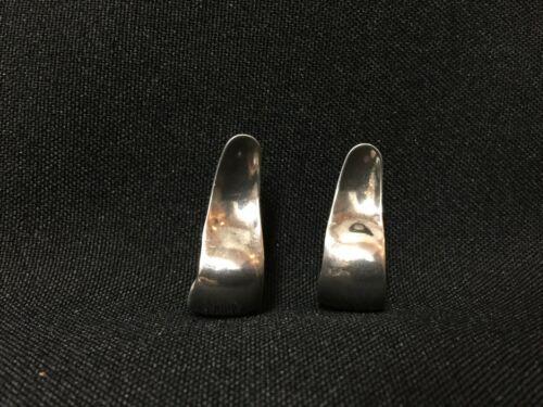 Vintage! Mexican Alpaca Hoop Post Dangle Earrings