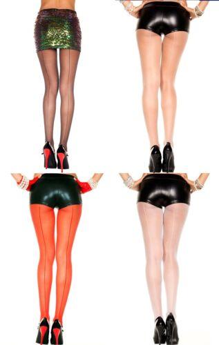 SHEER BACK SEAM Pantyhose//Tights 4 COLORS O//S /& PLUS
