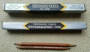Mongol-Eberhard-Faber-USA-Stenographic-Pencils-No-596-2-in-Original-Vintage-Box