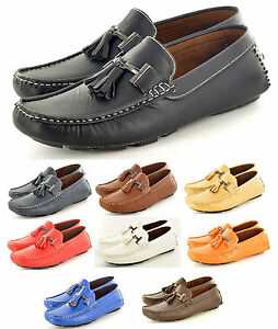 New-Mens-Casual-Loafers-Moccasins-Slip-on-Shoes-with-Tassles-Avail-UK-Size-6-11