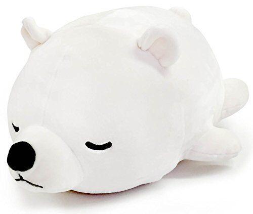 Marshmallow Animal bolster cushion Nemunemu polar bear white 15x27x14cm japan