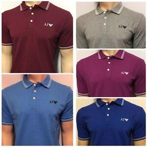 Armani-Jeans-Men-039-s-Short-Sleeve-Polo-Shirt-All-season