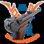 Luger-Pistole-PO8-Parabellum-m-Magazin-Holzgriff-VIELE-FOTOS-Modell-aus-Metall Indexbild 1