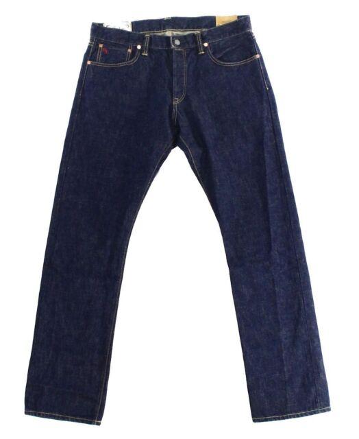 9ee5106a Mens Polo Ralph Lauren Varick Slim Straight Fit Selvedge Wash Denim Jeans  32 30
