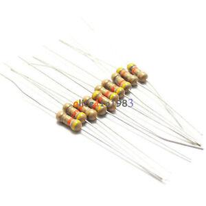 500PCS 100 Ohms 0.25W 1/4W 5% Carbon Film Resistors  Resistance BRAND NEW