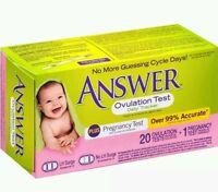 Answer Daily Ovulation Tracker, 20 Ovulation Tests + 1 Preg Test, Damaged Boxes