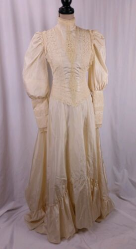 Vtg Country Elegance Dress Size 10 Modern S Ivory