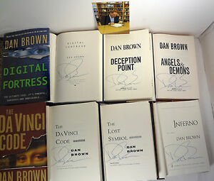 Dan-Brown-Complete-6-HC-Book-Novel-Collection-Da-Vinci-Code-Inferno-COA