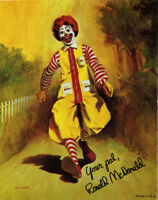 Ronald Mcdonald Clown Photo Print 14 X 11