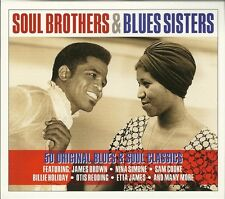 SOUL BROTHERS & BLUES SISTERS - 2 CD BOX SET - JAMES BROWN, NINA SIMONE & MORE