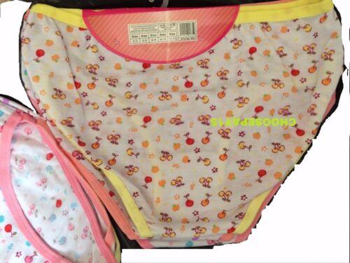 12 Pairs Girls Childrens Cotton Pants Briefs Knickers Kids Underwear 2-13 Years