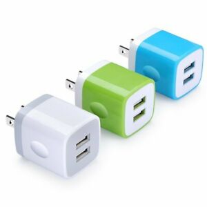 USB Wall Charger Dual USB Wall Charger Home Travel Charger 5V 2.1A//1A 2-Port Output Fast Charging for iPhone Samsung iPad Pro LG and Most Android Phones HTC