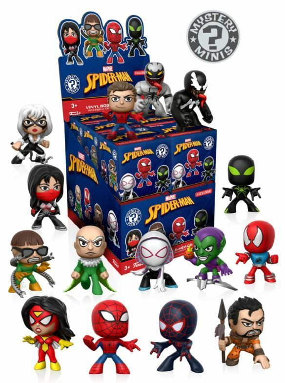 Spider-Man Classic Mystery Minis Target Variant Display Case of 12 - New instock