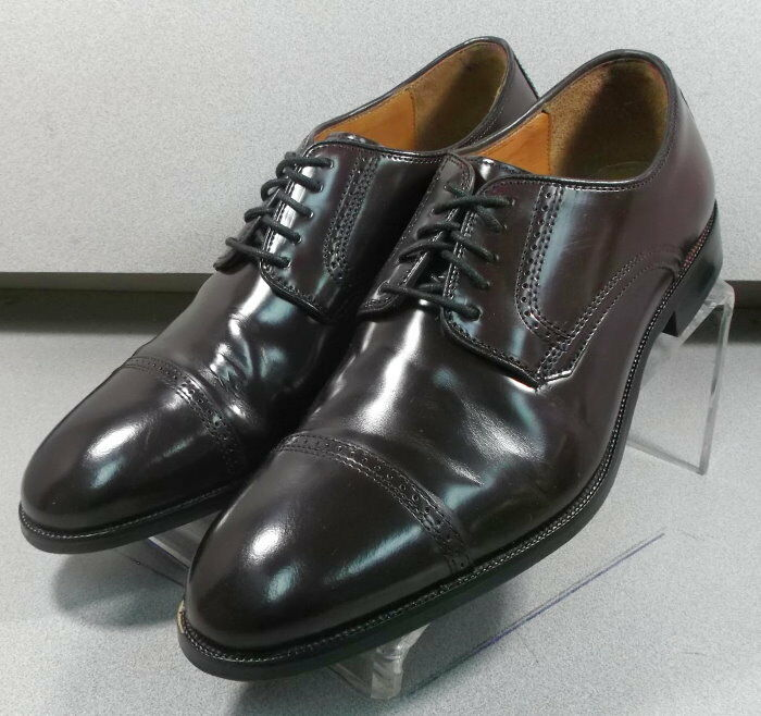 151773 PF50 Men's Shoes Size 9.5 EEE Burgundy Leather Lace Up Johnston & Murphy