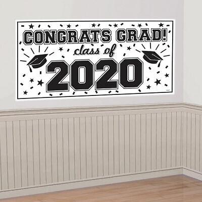 CLASS OF 2019 Scene Setter GRADUATION party wall  banner CONGRATS GRAD poster 6/'