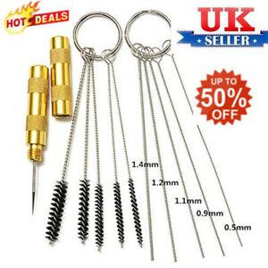 Airbrush-Spray-Gun-Wash-Cleaning-Tools-Needle-Nozzle-Brush-Glass-Clean-Pot-UKHOT