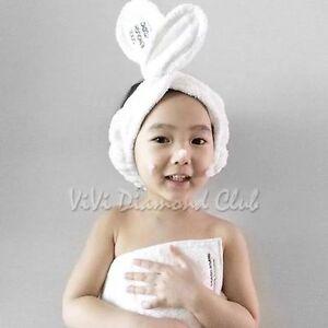 Fashion Korean Rabbit Ear Soft Towel Hair Band Wrap Tie Headband ... f77deacf904b