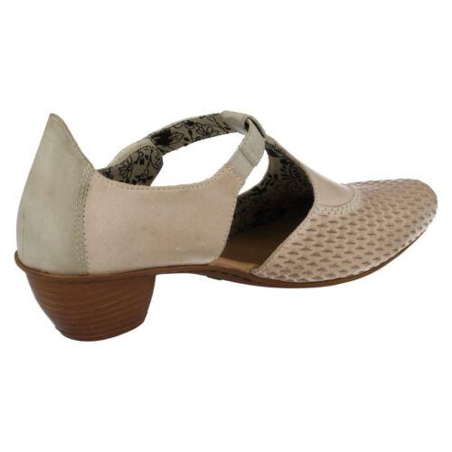 Fermé bar Toe Gris T Chaussures Rieker Ladies 43736 Combi Décontractées m08vNnwO