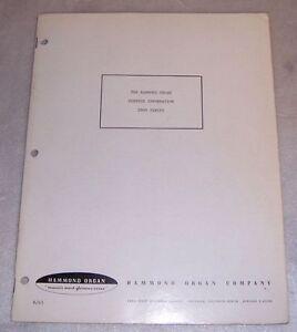 hammond s6 chord organ service manual