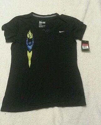 Womens Nike dri fit v- neck short sleeve workout shirt size L