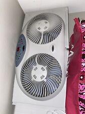 Twin Window Fan Dual Blade Reversible Air Adjustable Extender 2 Speed Setting