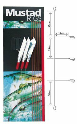 Westline Makrelenvorfach 5 Haken Gr.1//0 weiss Paternoster Ostsee Pilkvorfach