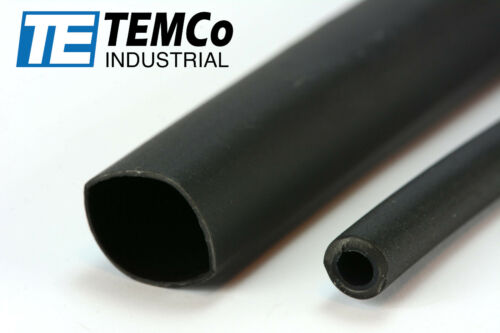 "8 Lot TEMCo 1//2/"" Marine Heat Shrink Tube 3:1 Adhesive Glue Lined 4 ft BLACK"