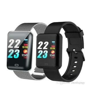 Bluetooth-Smart-Watch-iPhone-Android-Waterproof-Heart-Rate-Blood-Pressure-Fitbit