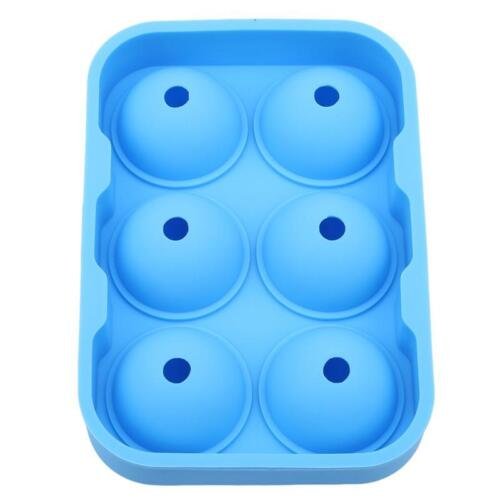6 Cavity Silicone Sphere Ice Cube Tray Jelly Ball Mold for ey Cocktail RE