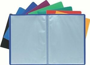 a4 soft cover display book anti glare pockets presentation folder