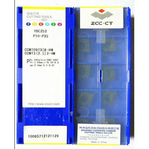 CCMT3 ZCC.CT 10pcs new CCMT09T308-HM YBC252 2.5 2-HM P10-P35 CNC inserts