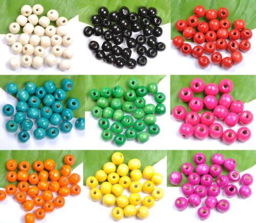 Envío Gratis 100pcs madera redonda suelta espaciador encantos perlas De 6mm 8mm 10mm 12mm 14mm