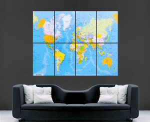 Image Is Loading MAP OF THE WORLD MAP POSTER PRINT MAPS