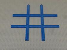 Lego Train - Crossover / Crossing Track - Blue - 4.5v / 12v (3231)