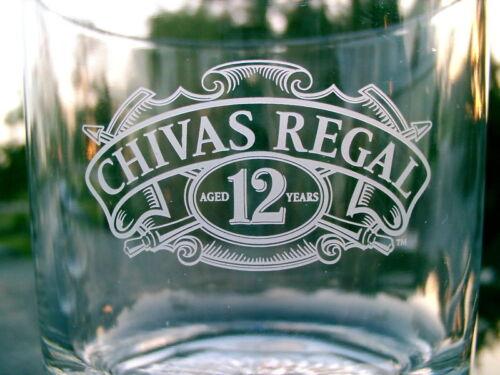 CHIVAS REGAL  12 YEARS  AGED  1  WHISKEY GLASS VARIETY ICEBERG BOTTOM COOL!