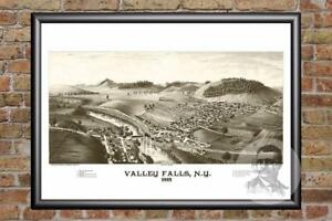 Vintage-Valley-Falls-NY-Map-1887-Historic-New-York-Art-Victorian-Industrial
