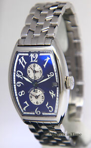 Franck Muller Master Banker Steel Blue Dial Mens Automatic Watch 5850 MB