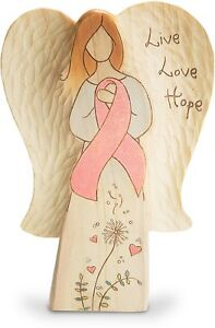 "Pavilion Collectible 7"" Breast Cancer Awareness Live-Love-Hope Angel Figurine"