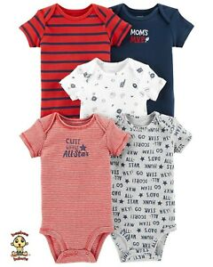 Carter's Bodysuits 5-Pack Short Sleeve Set 9 months Authentic and Brand New