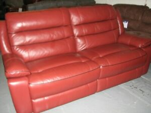 Nesso-reclining-3-seater-sofa-in-Deep-red-Leather